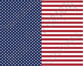 Flag stars and stripes craft  vinyl sheet - HTV or Adhesive Vinyl -  pattern HTV2800