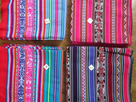 PeruBolivien Aguayo Multi farbige Stoff  Tischdecke von