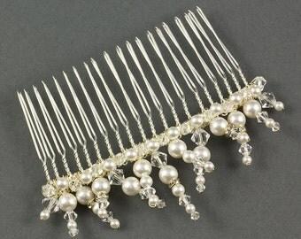 Pearl Wedding Comb | Icicle Pearl Wedding Hair Comb | Winter Wedding Comb |  Pearl Bridal Hairpiece |  Wedding Hair Comb | Bridal Hair Comb
