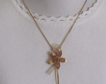"Necklace Beautiful Gold Plated Chain 24"" Inch Long Bolero Style Adjustable Necklace (26F) Affordable Jewelry!!!"
