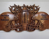 Wood Anniversary Football...