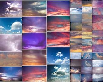 Photoshop Sky Overlays - Cloud Overlays - Over 70 Sky Overlays for Photoshop by The Artistic Nest