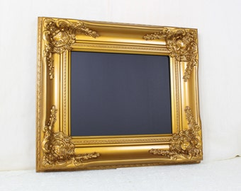 Wedding Chalkboard, Gold Framed Chalkboard, Dorm Room Blackboard, Gold Wedding Decor, Ornate Kitchen Chalkboard Sign Photo Prop, 8x10
