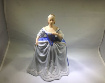 Limited Edition, Hand Painted Porcelain Figurine, Catherine the Great, by Franklin Porcelain, 1983