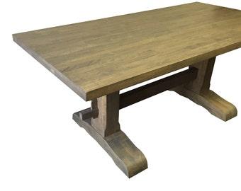 Grey Trestle Farmhouse Table Dinning Table / Kitchen Table / Desk