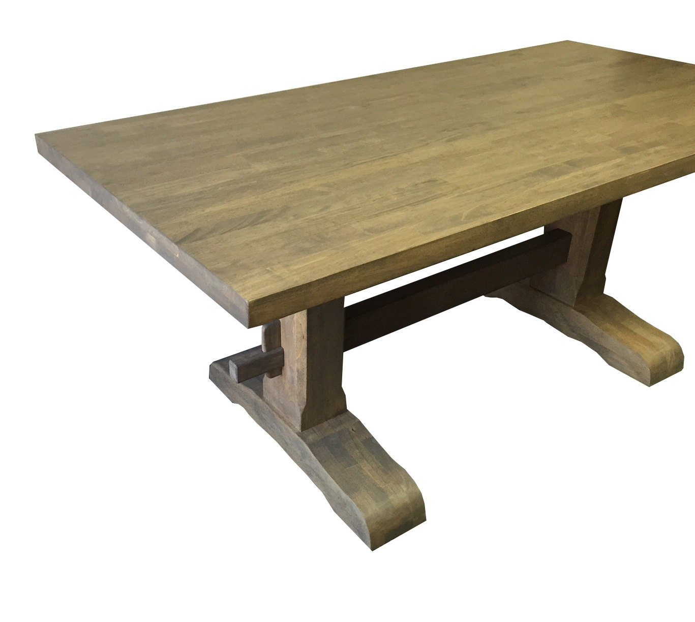 Grey Trestle Farmhouse Table Dinning Table Kitchen Table