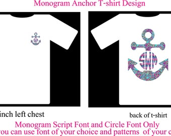 Monogram Shirt, Monogram Anchor Shirt Long sleeve