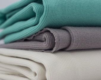 Rib Knit Cream by Birch Fabrics Organic Cotton Fabric