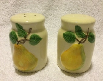 Pear salt and pepper shakers
