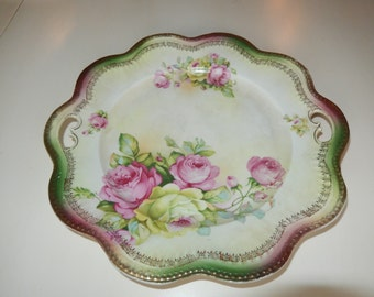 GERMANY B T Co Hand Painted Plate