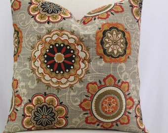 Beautiful New Suzani,Upholstery fabric,18x18-19x19-20x20,pillow cover,throw pillow,decorative Pillow,same fabric on both sides