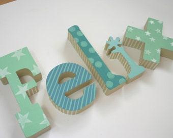 Wooden letters / wooden alphabet letters