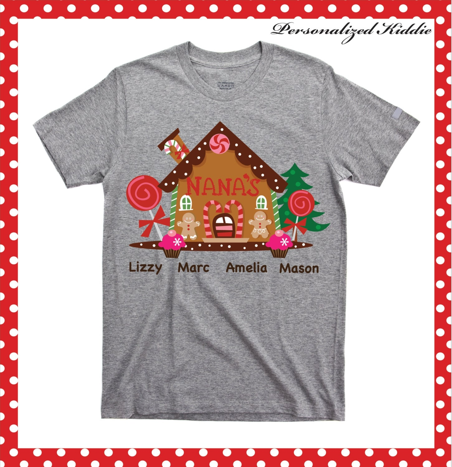 personalized christmas nana t shirt personalized nana