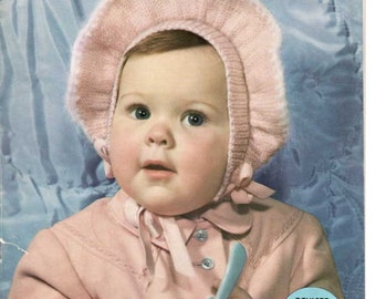 Bear Brand Baby Book. Vol. 339..  A 56 page knitting book for infants up to 4 years. - 1940's