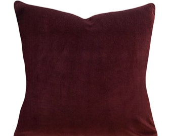 Rust Velvet Pillow Cover - Throw Pillow - Accent Pillow - Both Sides - 12x16, 12x20, 14x18, 14x24, 16x16, 18x18, 20x20, 22x22, 24x24, 26x26