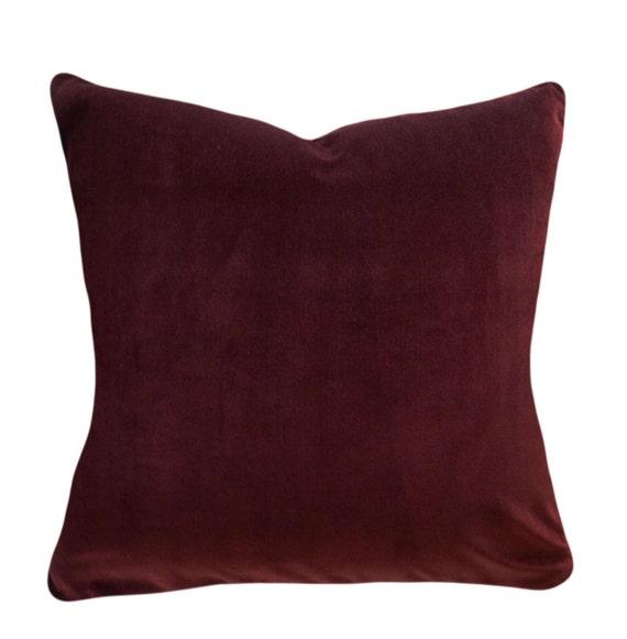 Rust Velvet Pillow Cover Throw Pillow Accent Pillow Both