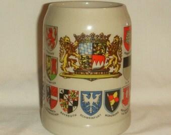 German Beer Stein Hirschmann Heavy Ceramic inv1602