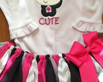 ON SALE So Stinkin' Cute Skunk Tutu Outfit