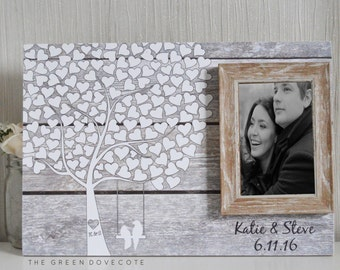Wedding Guestbook - Personalized Wedding Guest Book - Rustic Wedding Guestbook - Custom Wood Guestbook