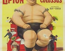 Vintage Circus Freak Show Poster The Colossus of London Poster A3 / A2 Print