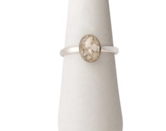 Sterling Silver Oval Cremation Ring