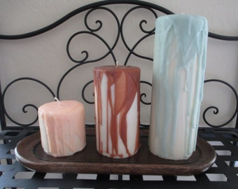 Soy Drip Pillar Candle Set
