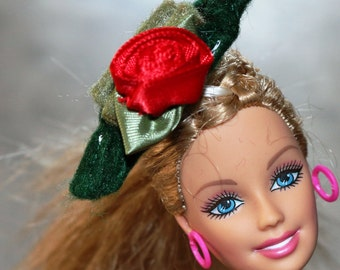 Green Fancy Party Hat for Barbie Doll
