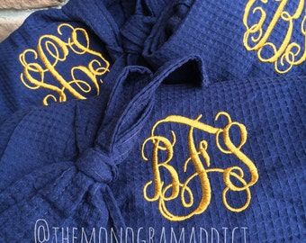 Kimono Waffle Robe {Monogammed}