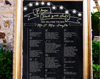 Boho Wedding Table Assignments Board Table listings Wedding