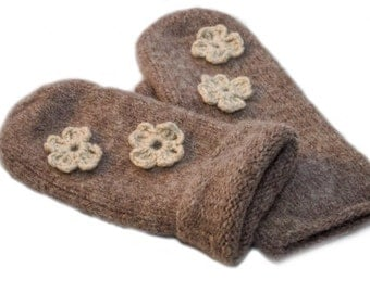 Pure Norwegian felted mittens