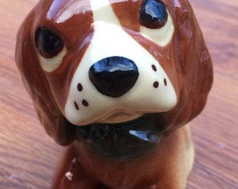 SALE Beagle Ceramic Planter Mid Century Retro 50s