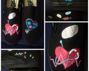 Custom Painted Nursing/Doctor Vans Designed and personalized just for you!