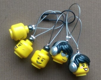 Headphones Lego Stitch Markers (Place Markers)