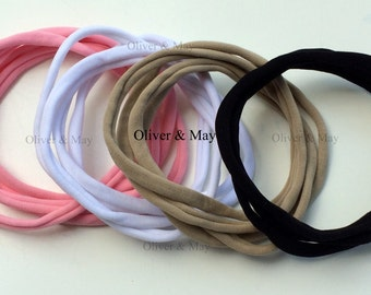 SAMPLE Nylon Headband Baby Headbands Nylon Elastic Headbands International Shipping 1 Piece Single Headband 8mm 30-34 cm