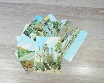 Kiev vintage postcards, Views of the City Set of 8, Ukraine Vintage Soviet USSR   Architectural Ensembles City Monuments Cityscape