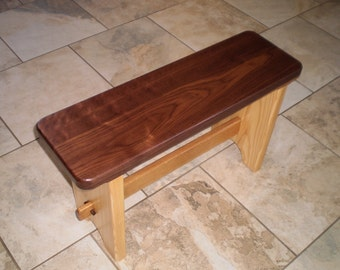 """Bench - """"Amish Style"""" Walnut and Ash"""