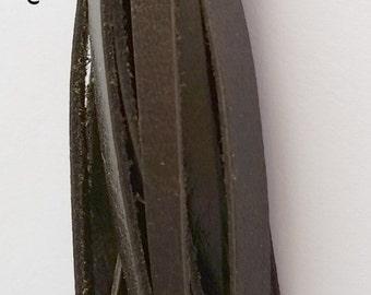 LIMITED EDITION Dark Brown Leather Tassel Key Chain