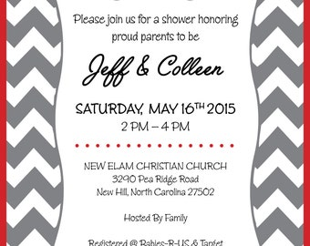 Fireman Baby Shower Invite