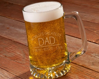 Personalized World's Greatest Dad 25 oz. Sports Mug - Dad Beer Mug - Personalized Beer Mug - Gifts for Him - Gifts for Dad - GC1458 DAD
