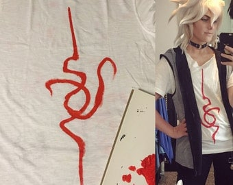Komaeda Nagito hand painted shirt