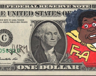 Original Hand painted Jury The Clown Dollar Fat Albert 2*