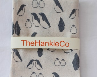 Penguin Print Cotton Hankie