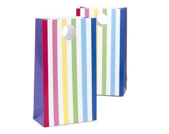 Rainbow Stripe Party Favor Bag