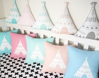 Teepee shaped cushions