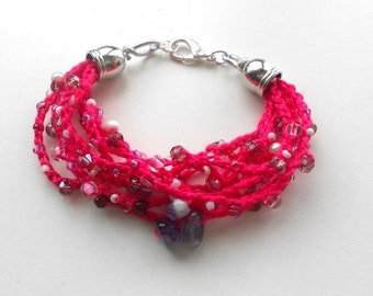 Fucsia handmade Bracelet