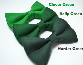 Clover/Kelly/Hunter Green bow tie boys bow tie mens bow tie baby bow tie green bow tie christmas bow tie kelly green christmas green