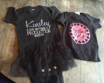 Custom Baby Infant Onesie (glitter)