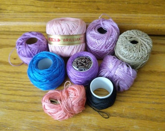 Lot of Perle Cotton Embroidery Thread