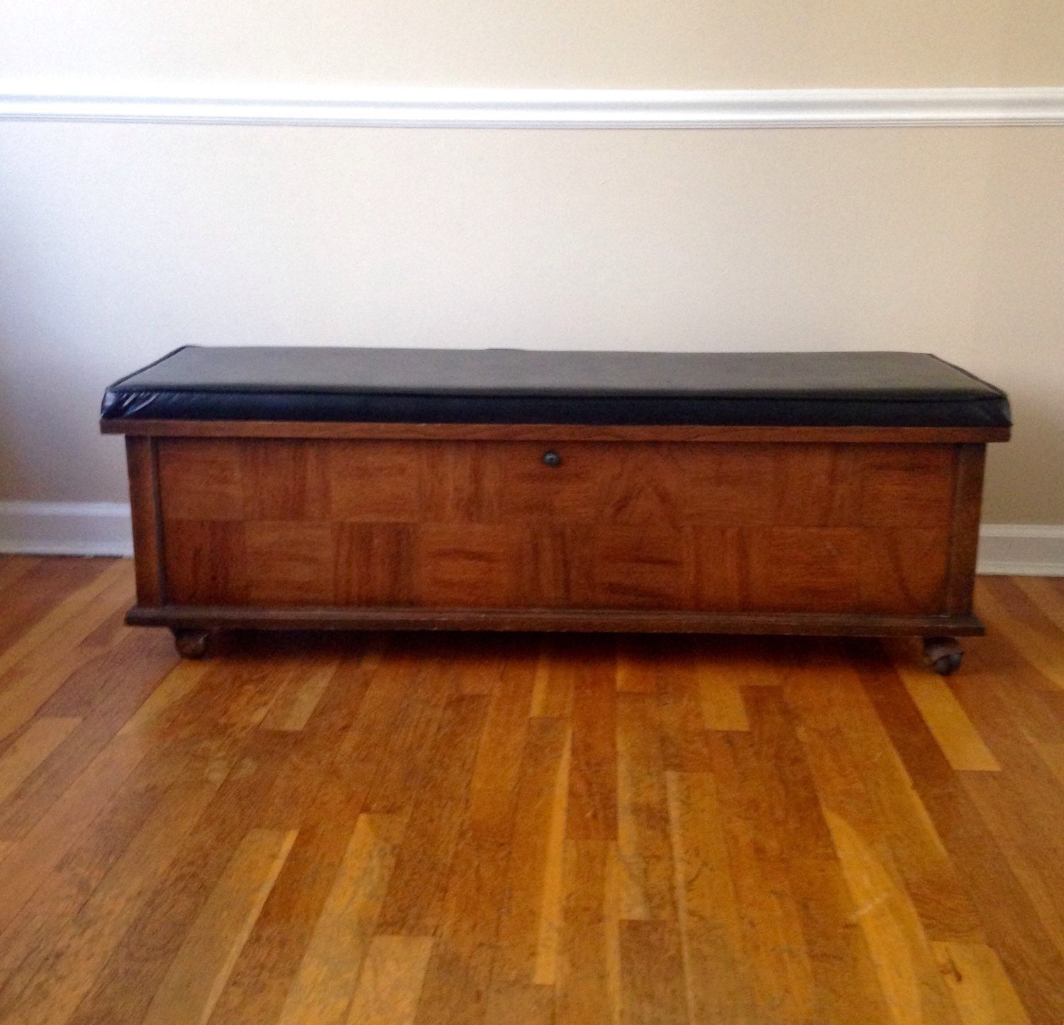 Reserved Vintage Lane Cedar Chest With Wood Inlay