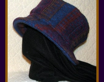 Upcycled Felted Wool Stash Hat